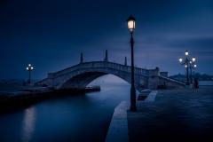Nachtfotografie Birgit Rilk Venedig Brücke