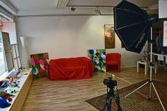 Das Atelier Roswitha Muth wurde kurzerhand in ein Fotostudio umgewandelt