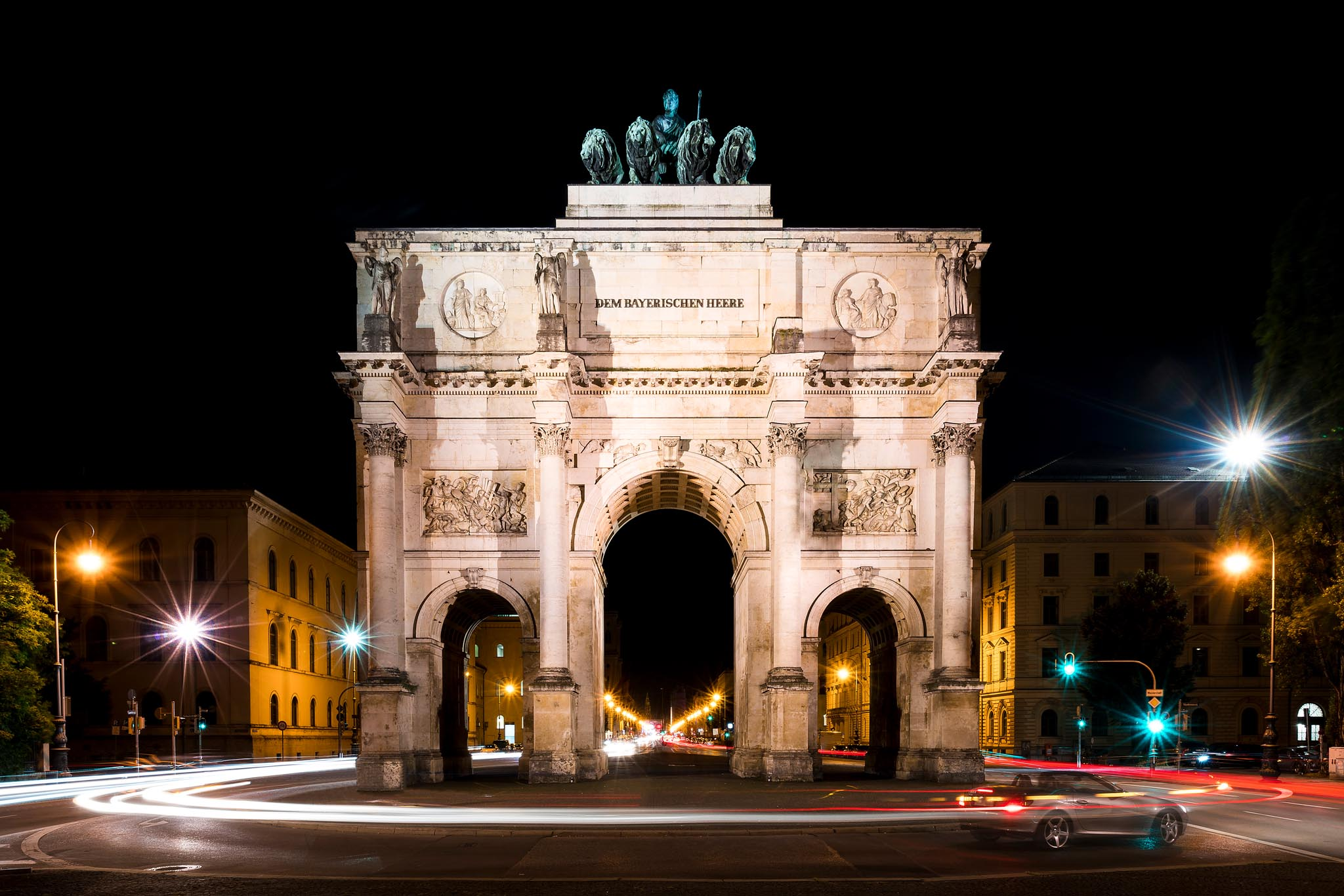 Experimentell Münchner Siegestor (Foto: Andy Ilmberger)