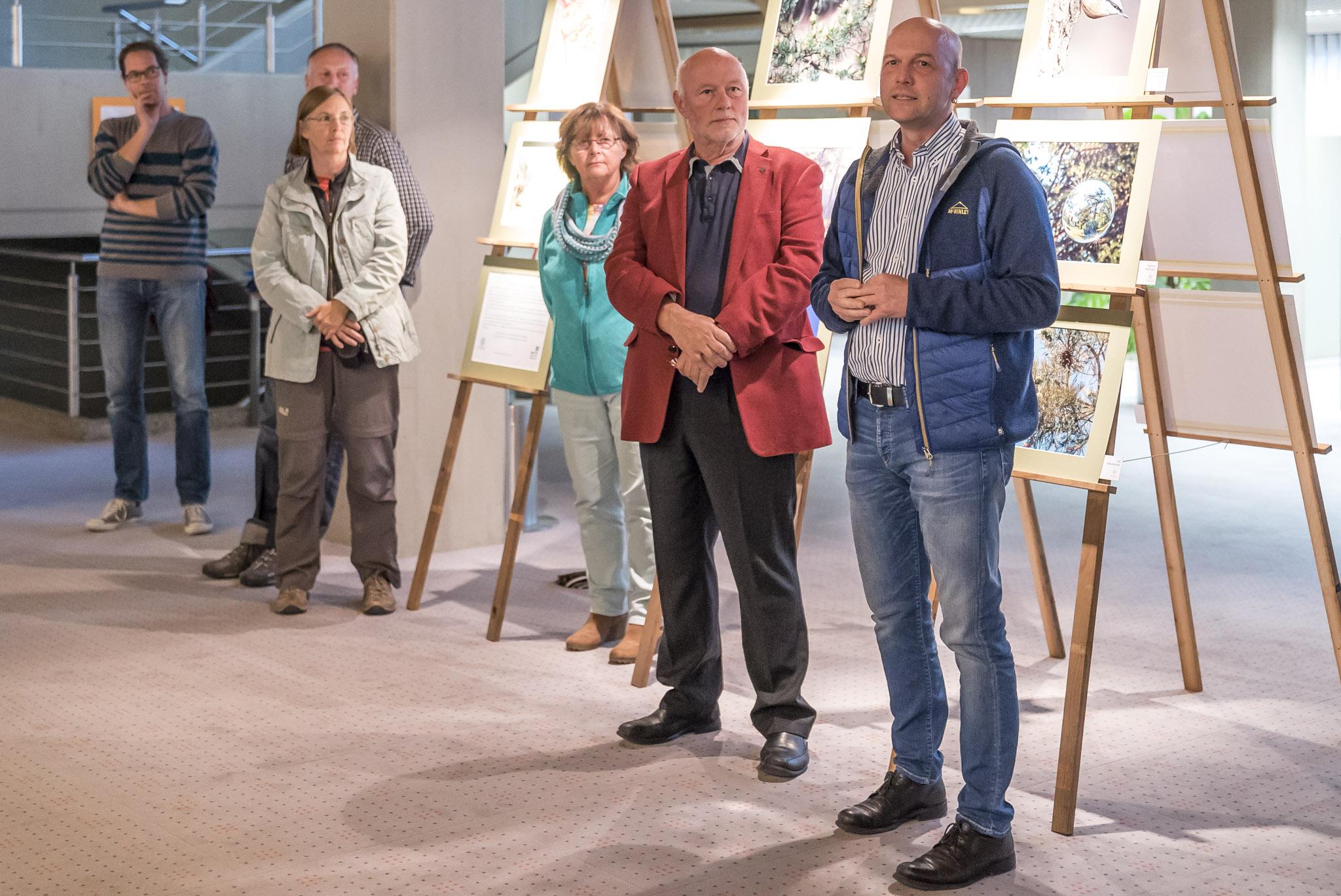 1. Vorstand des Fotoclub Wolfratshausen Thomas Hirschmann bei der Eröffnung