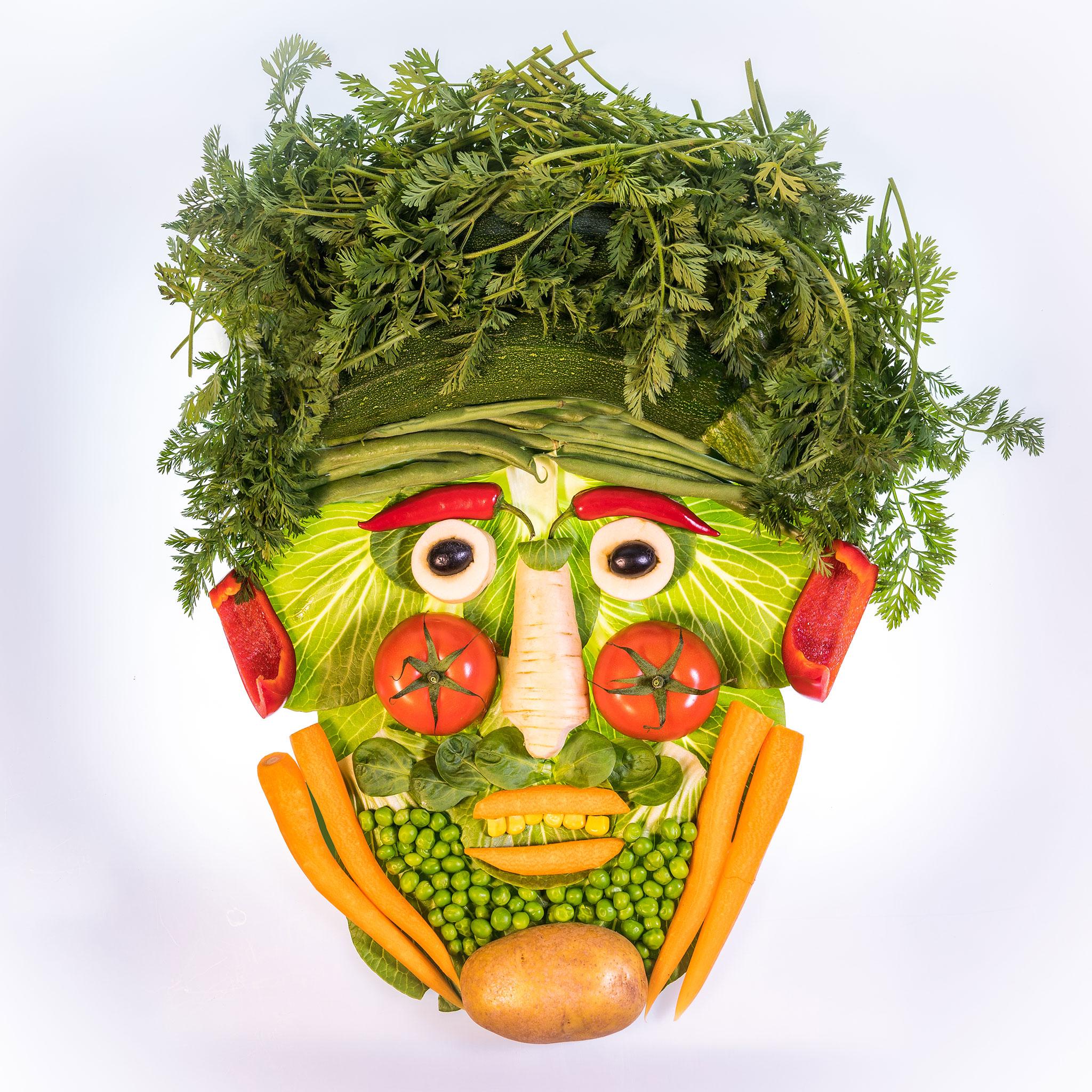 Stillleben Gemüsegesicht (Foto: Andy Ilmberger)