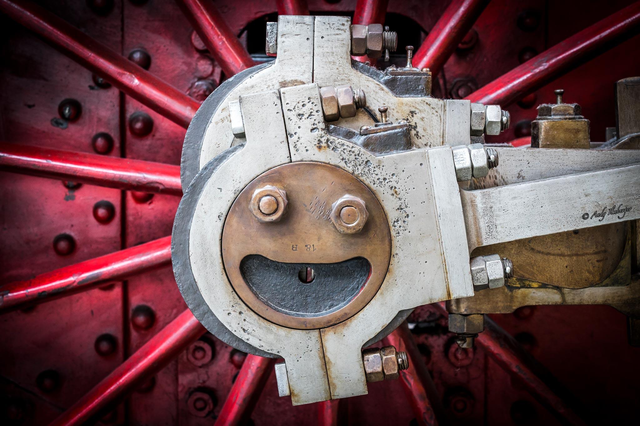 Smiley Eisenbahnrad von Andy Ilmberger