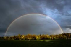 Doppelter Regenbogen von Peter Schreyer