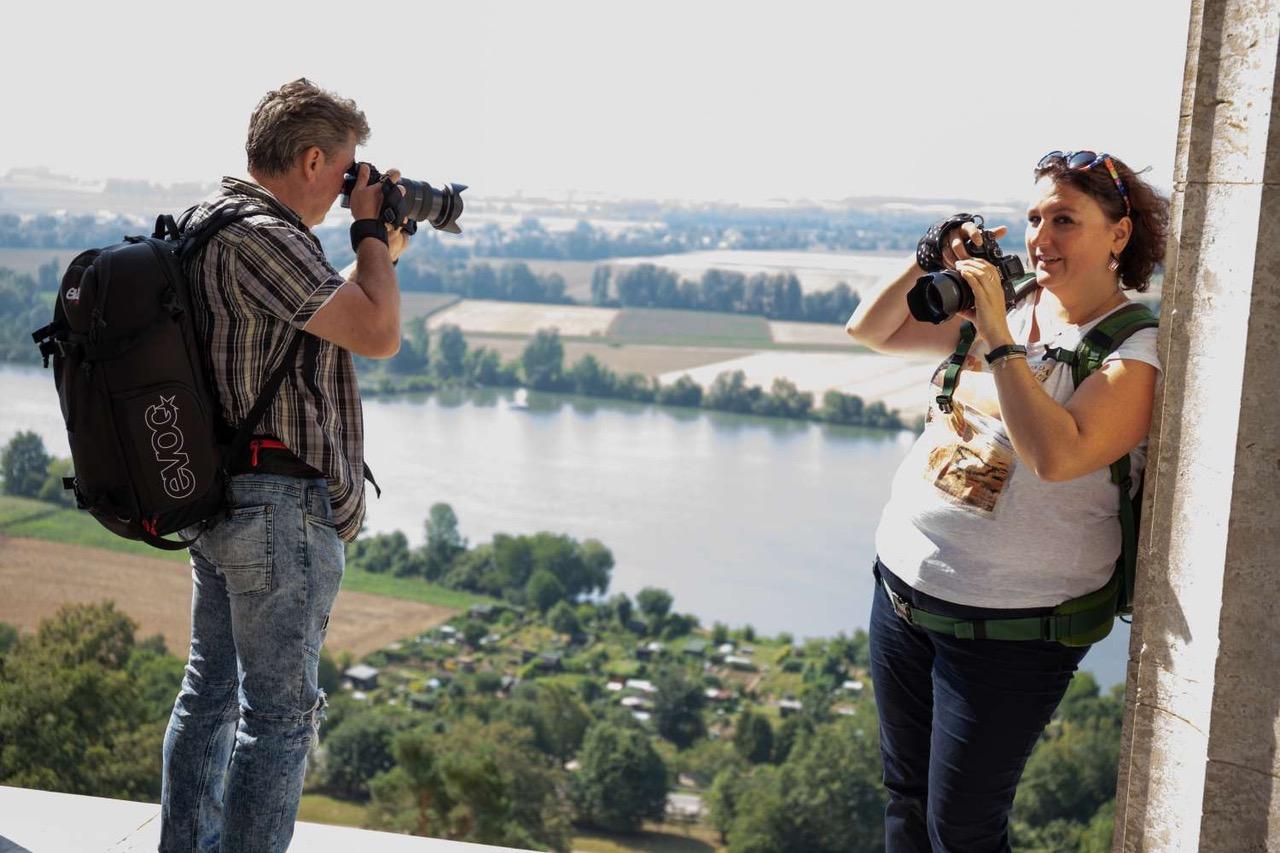 Hinter den Kulissen: Shooting auf der Walhalla (Foto: Klaus Rühling)