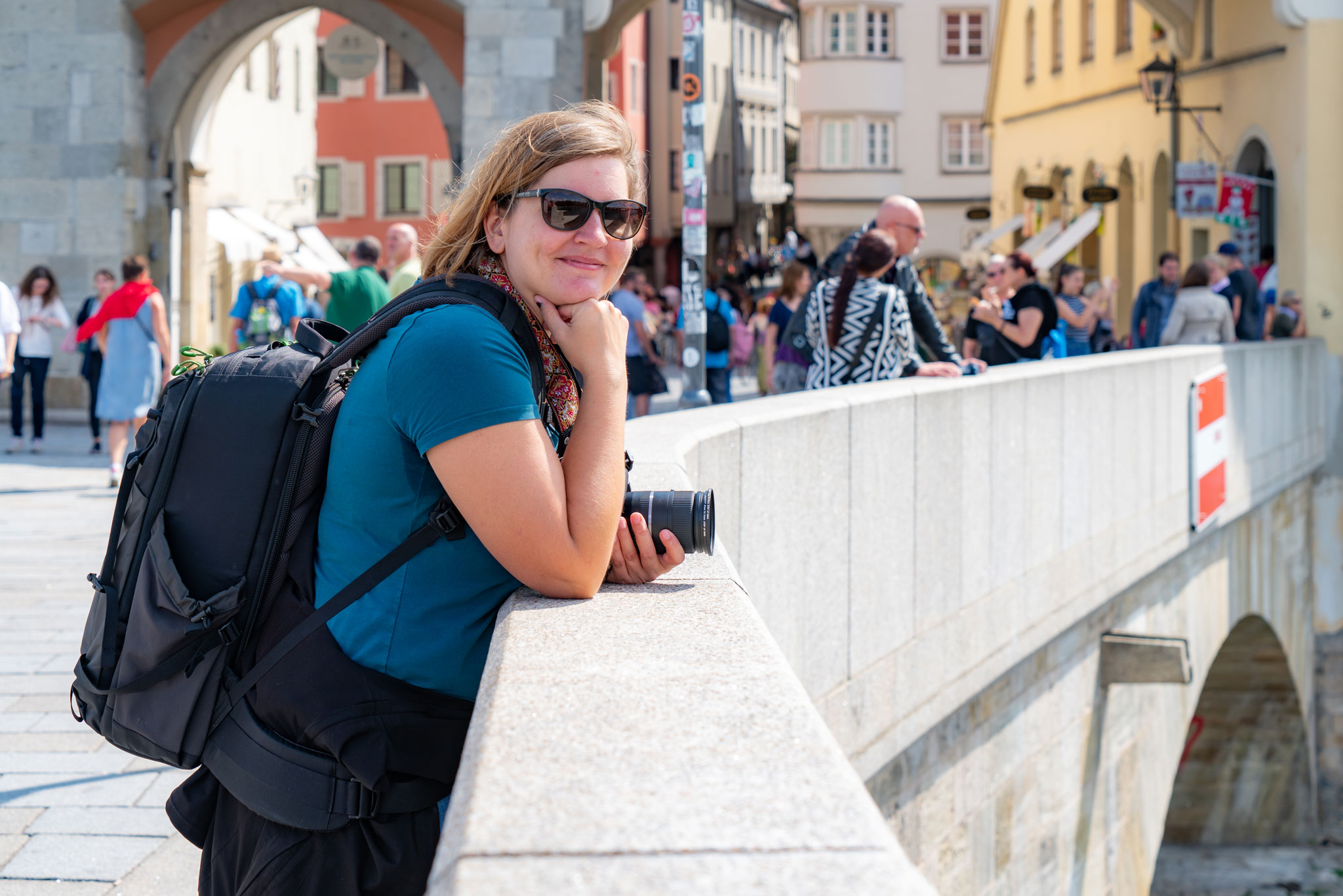 Hinter den Kulissen: Foto-Pause auf der Steinernen Brücke (Foto: Sandra Ilmberger)