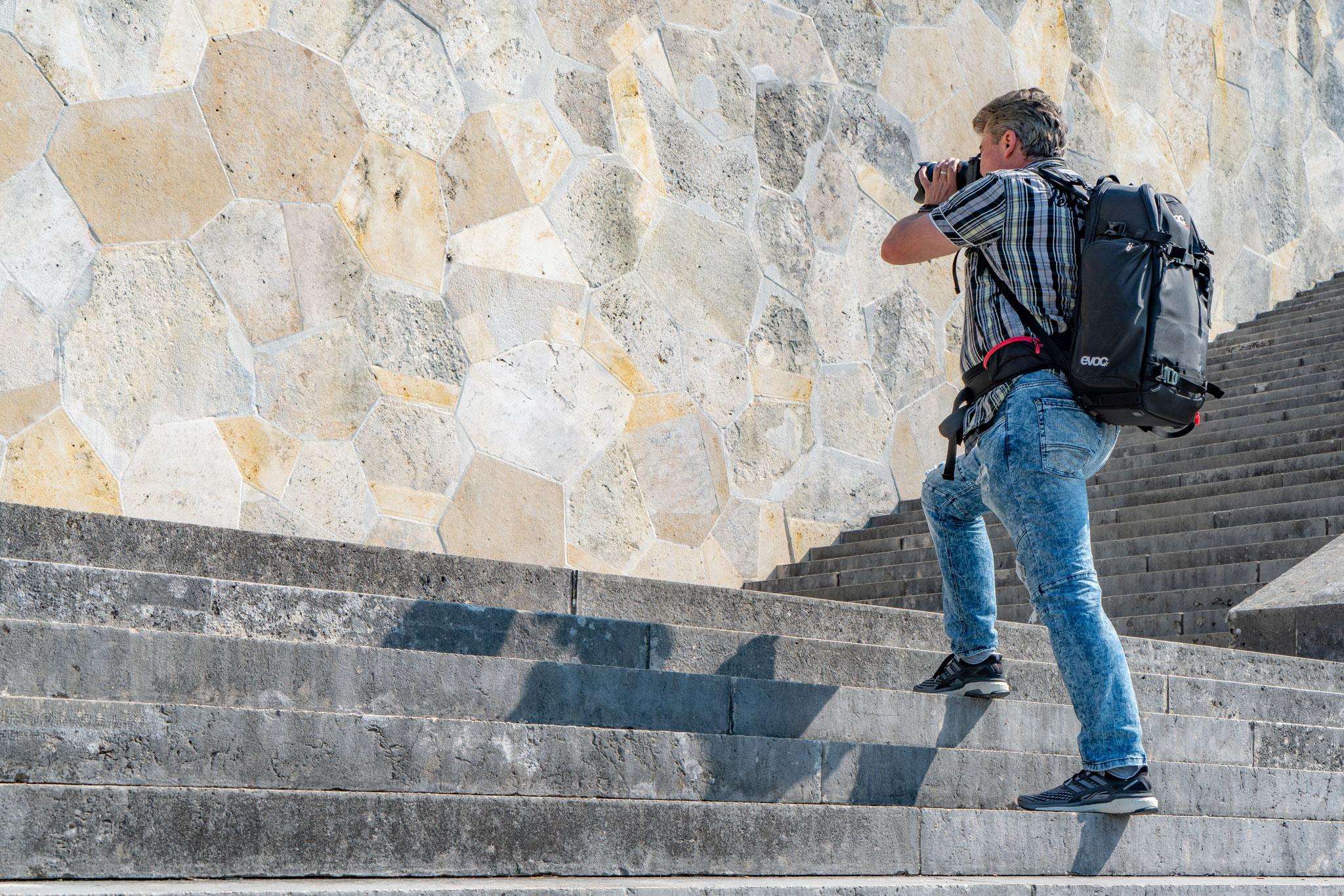 Hinter den Kulissen: Shooting auf der Walhalla (Foto: Sandra Ilmberger)