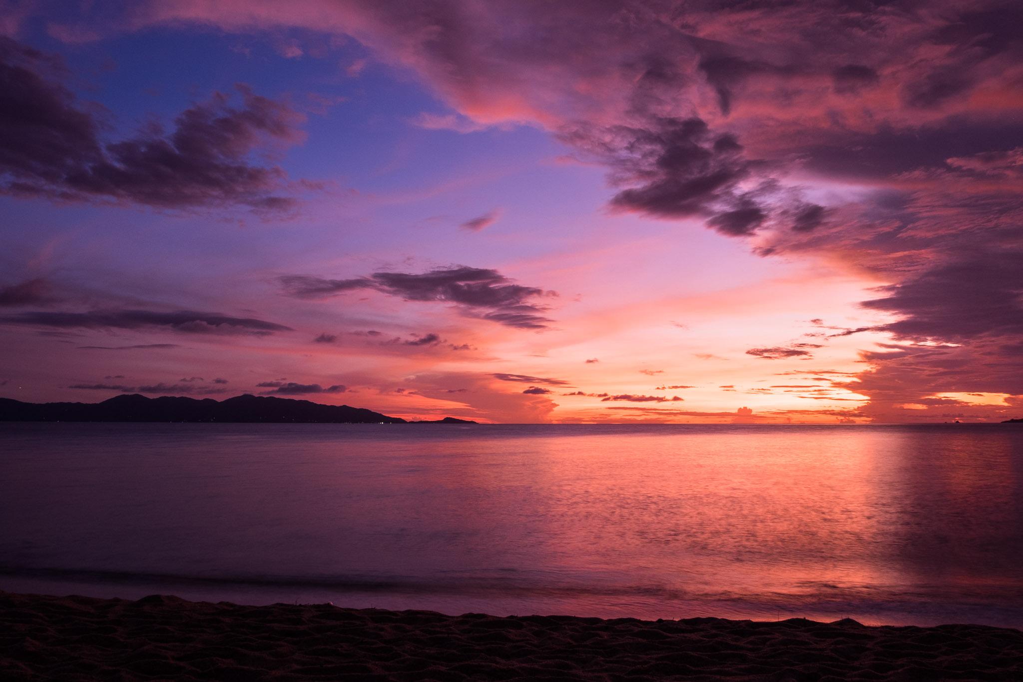 Traumhafter Sonnenuntergang auf Koh Samui (Foto: Birgit Rilk)