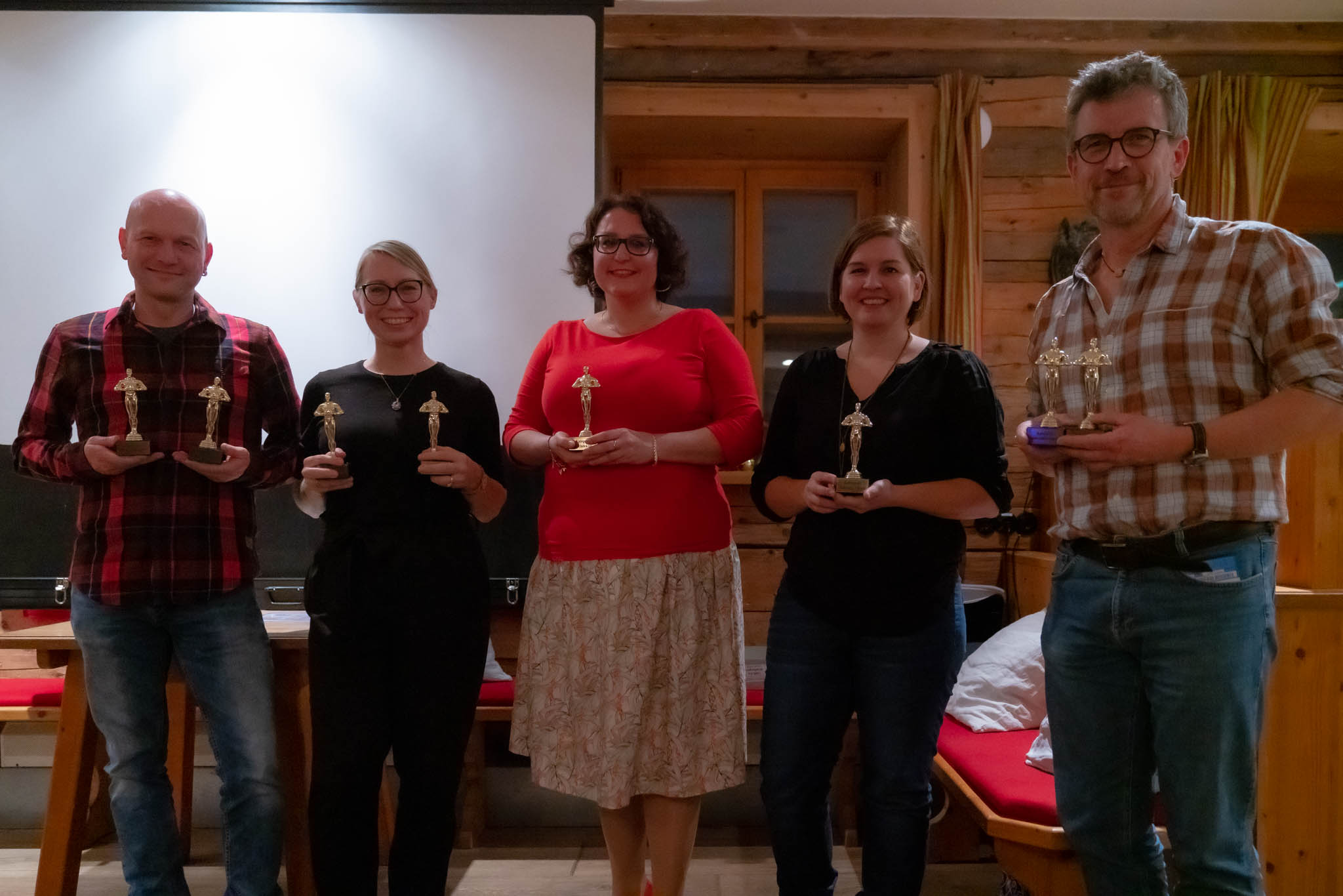And the Oscars goes to... (v.l.n.r.) Tom Hirschmann, Birgit Rilk, Sandra Ilmberger, Birgit Kindsmüller und Peter Schreyer - (c) Andy Ilmberger