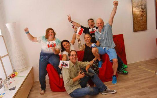 """Die Aktion """"Rotes Sofa"""" auf dem Bürgerfest Wolfratshausen"""