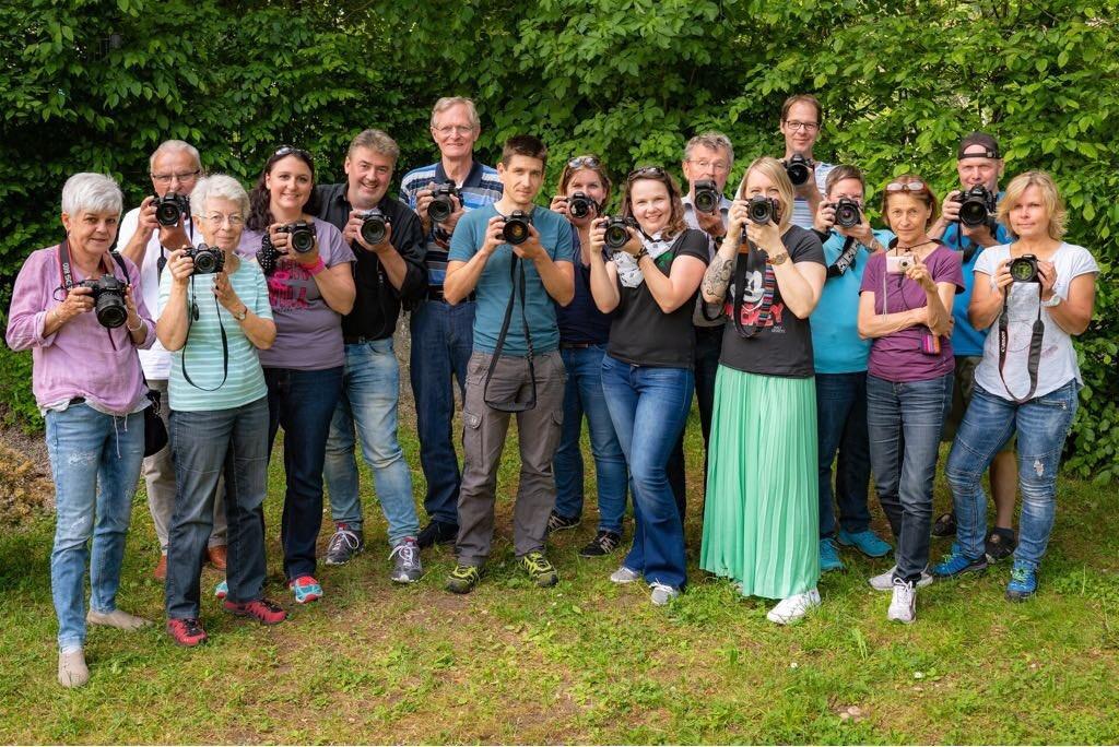Rege Beteiligung: 16 Mitglieder des FCW beteiligten sich im Mai 2018 mit viel Spaß an der Fotoralley.