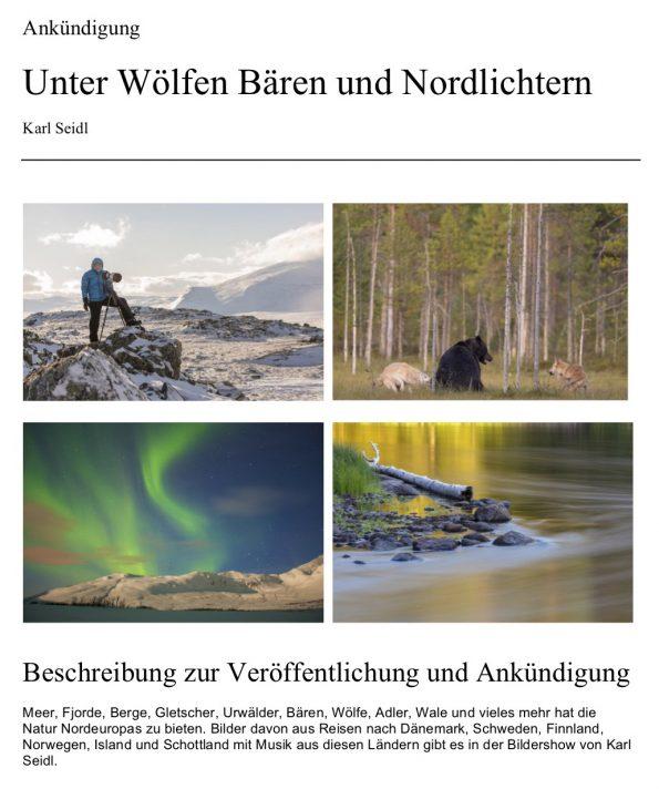 Unter Wölfen, Bären und Nordlichtern