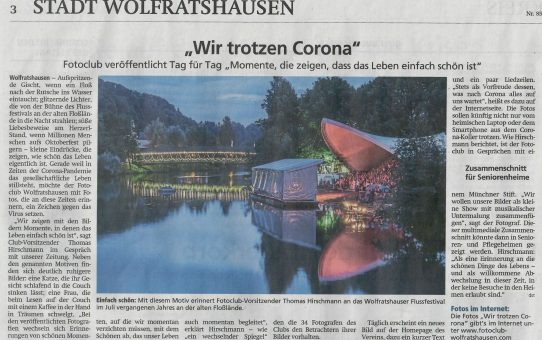 FCW-Corona-Aktion in der Presse