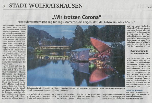 FCW Corona-Aktion in der Presse