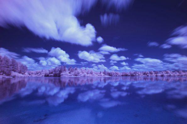 Landschaft am See, Johannes Schlandt
