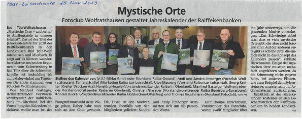Isar-Loisachbote 25.11.2019 Raiba-Kalender