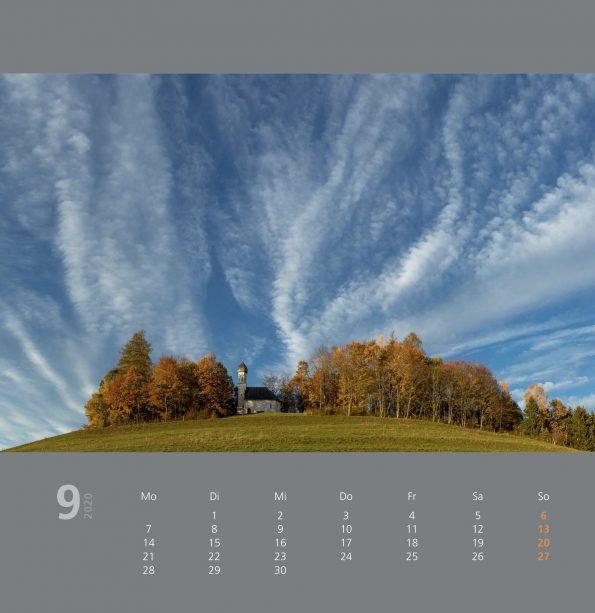 Raiffeisenbank Kalender 2020 September