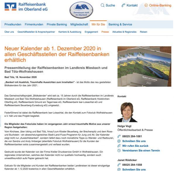 Raiffeisenbank Pressemitteilung Teil 1