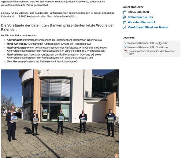 Raiffeisenbank Pressemitteilung Teil 2