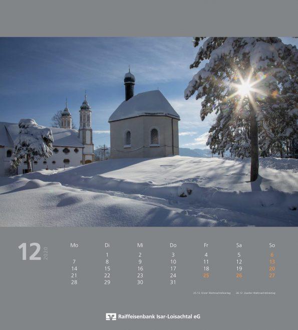 Raiba Kalender Dezember 22020