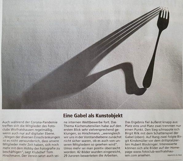 """Isar-Loisachbote/Merkur (26.03.2021): Bericht über den Wettbewerb """"Küchenutensilien"""""""
