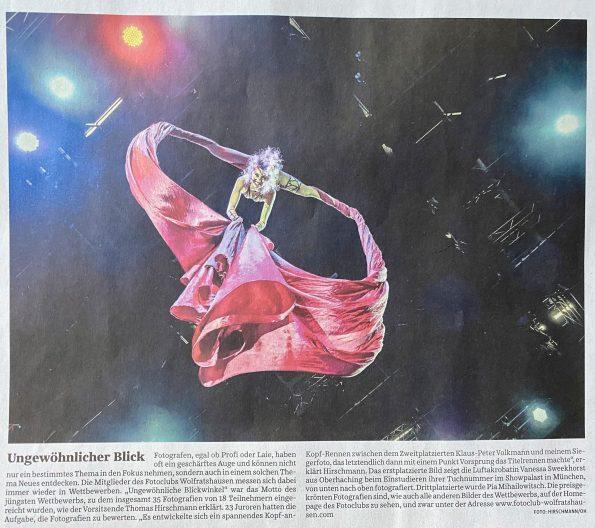 """Süddeutsche Zeitung (20.04.2021): Bericht über den Wettbewerb """"Andere Blickwinkel"""""""